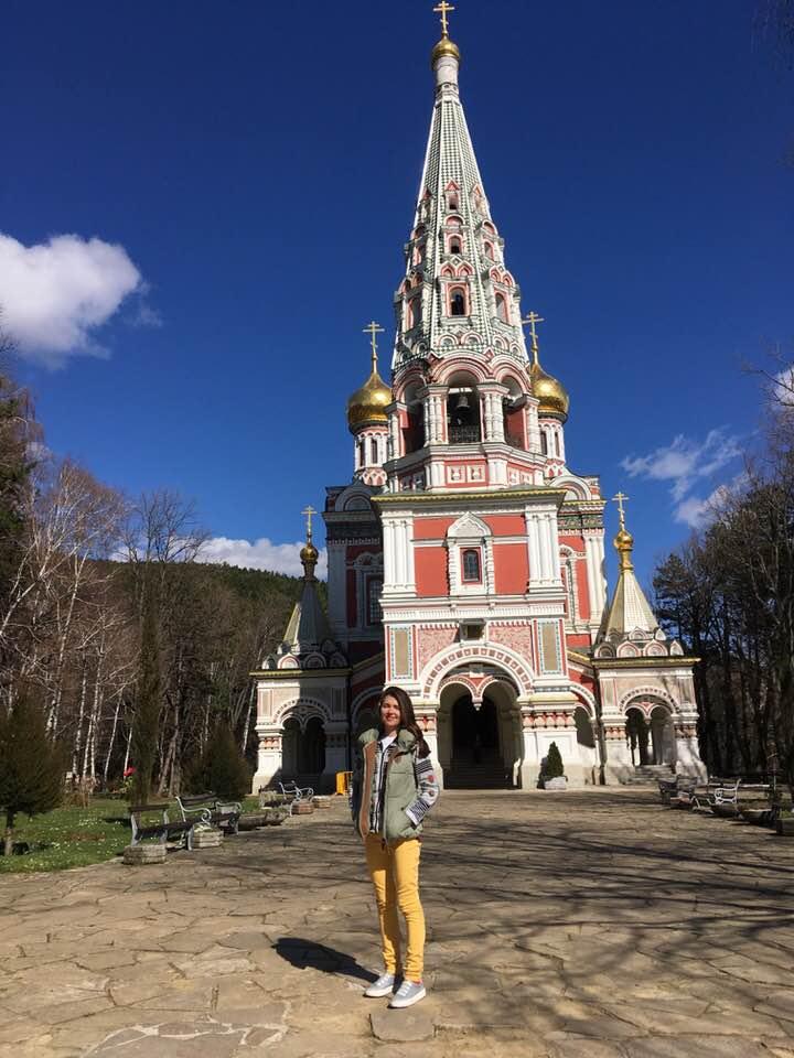 Руската църква до град Шипка